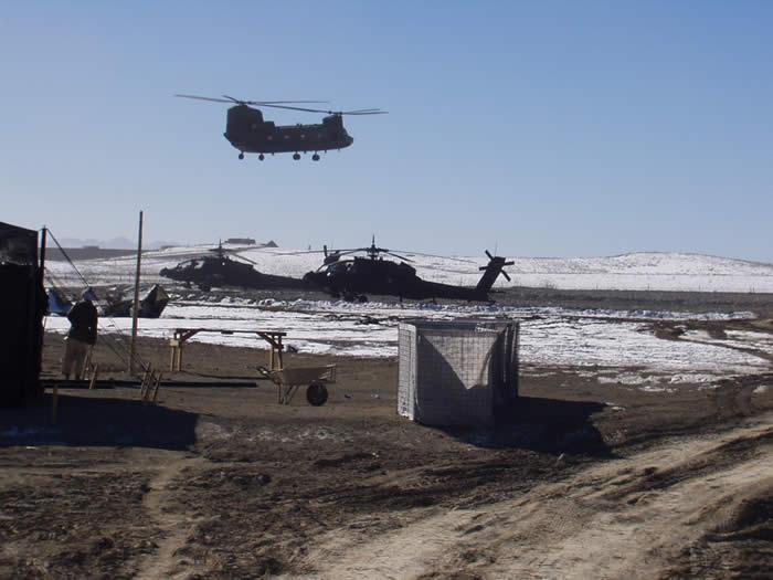 Re-supply camp Harriman, Orgun, Paktia province.