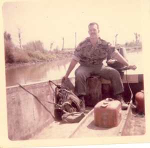 "Mekong Delta ""Bass Boat"" on Phop Mui canal between My An and My Da."
