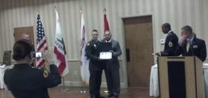 Terry Cagnolatti and USC ROTC Cadet Rory Hight.