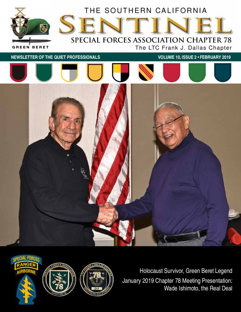 0ad00626255 Chapter 78 Newsletter for February, 2019 - Special Forces Association  Chapter 78