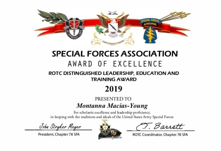 Claremont_02_ROTC 2019 Award Certificate